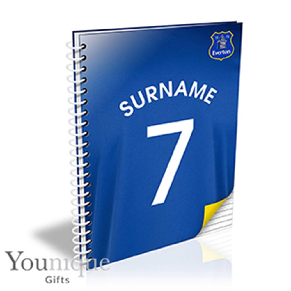 Picture of Personalised Everton FC A5 Notebook