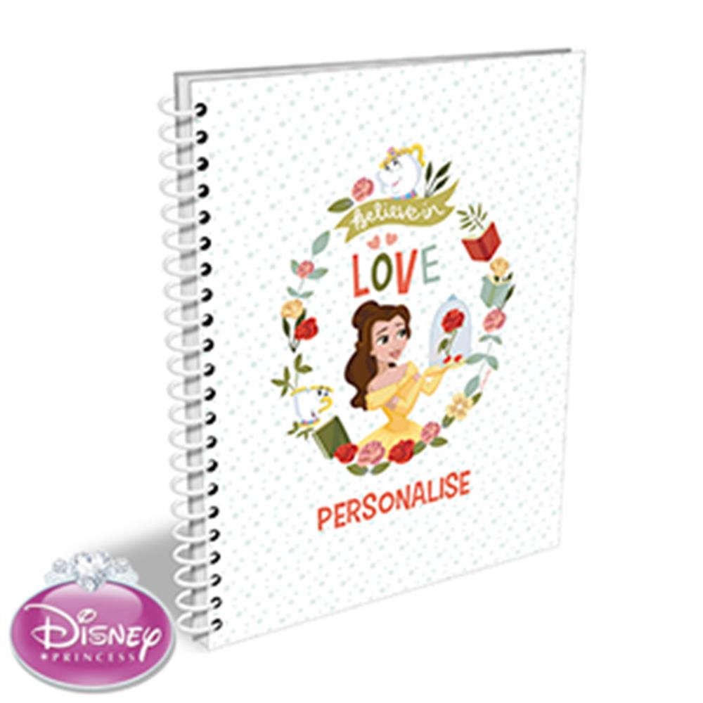 Picture of Personalised Disney Belle A5 Notepad