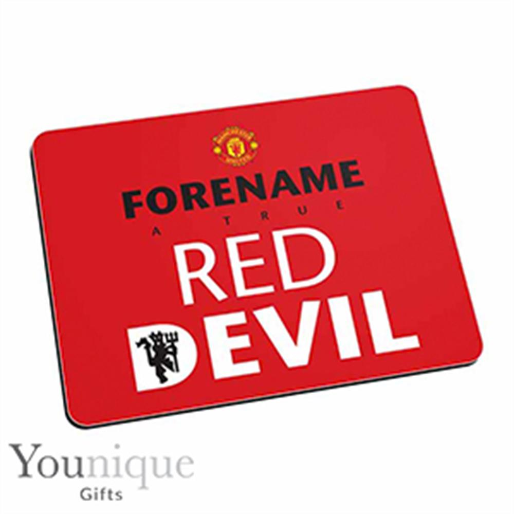 Picture of Personalised Man United Mouse Mat (Red)