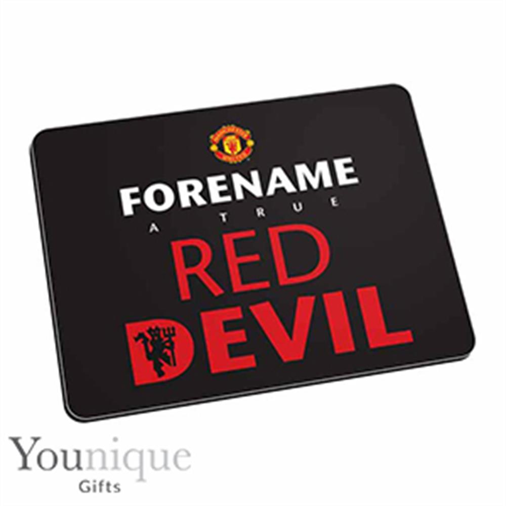 Picture of Personalised Man United Mouse Mat (Black)