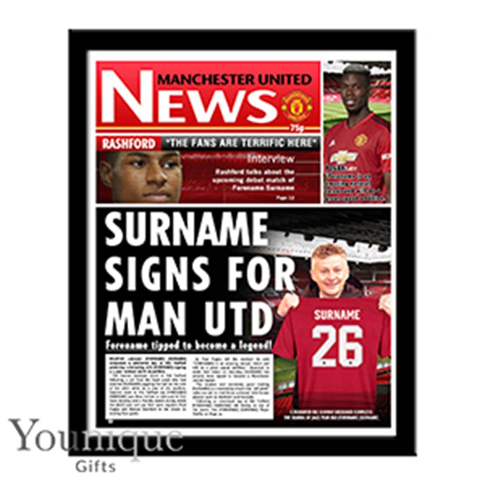 Picture of Personalised Man United Framed Newspaper