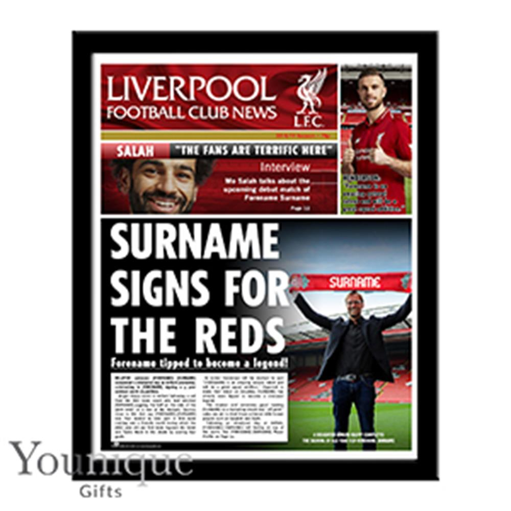 Picture of Personalised Liverpool FC Framed Newspaper
