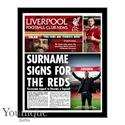 Personalised Liverpool FC Framed Newspaper
