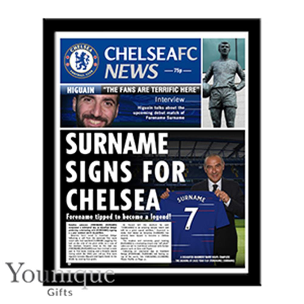 Picture of Personalised Chelsea FC Framed Newspaper