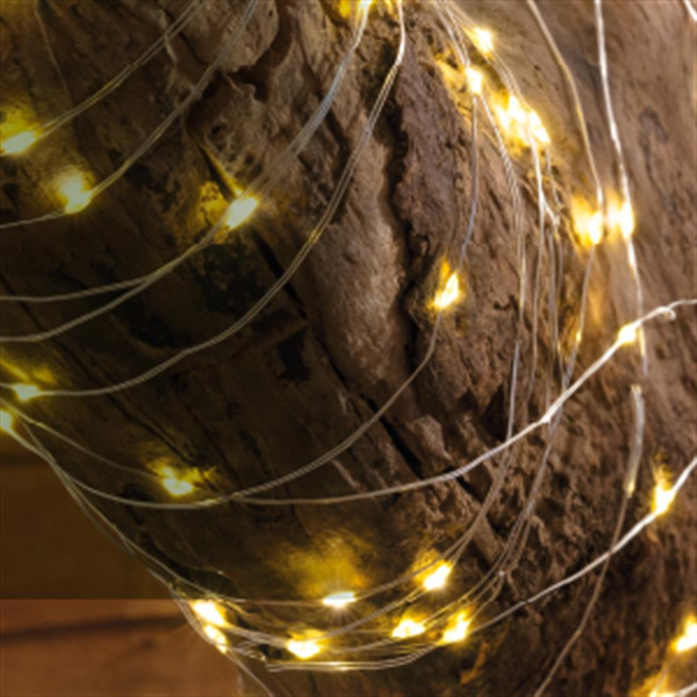 Picture of Firefly: 200 LED Solar Copper Wire String Lights - Warm White