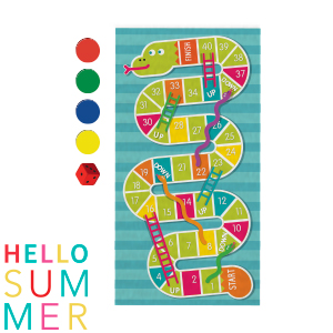 Picture of Snakes & Ladders Beach Towel