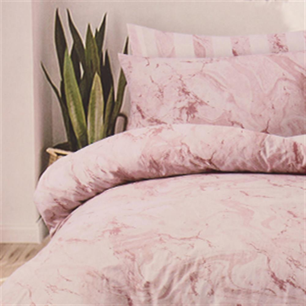 Picture of Home Collections: Pink Marble Printed Duvet Set