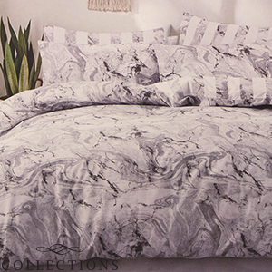 Picture of Home Collections: Grey Marble Printed Duvet Set