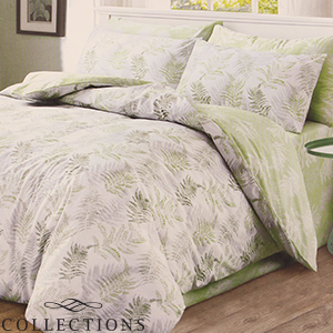 Picture of Home Collections: Green Fern Printed Duvet Set