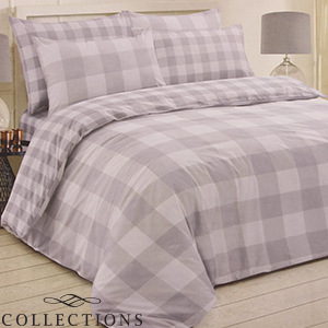 Picture of Home Collections: Grey Check Printed Duvet Set