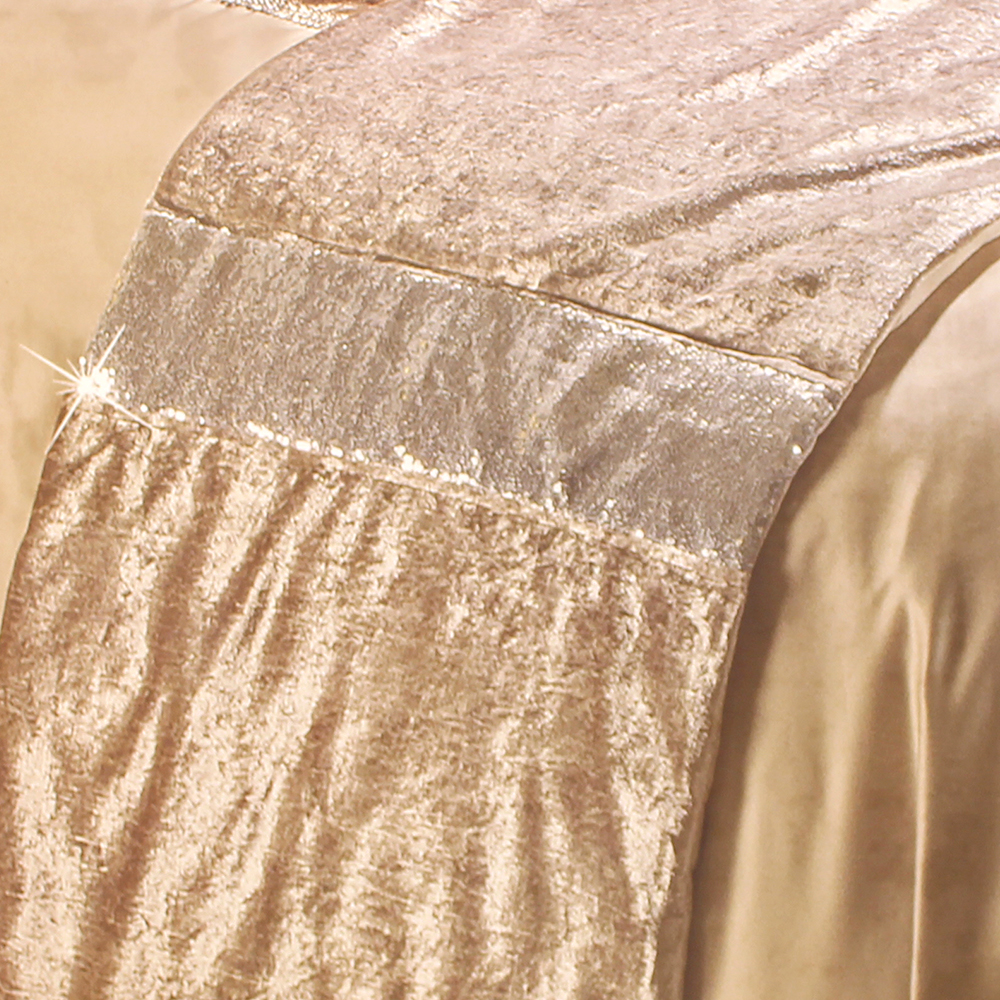 Picture of Luxury Crushed Velvet Sequin Runner: Oyster
