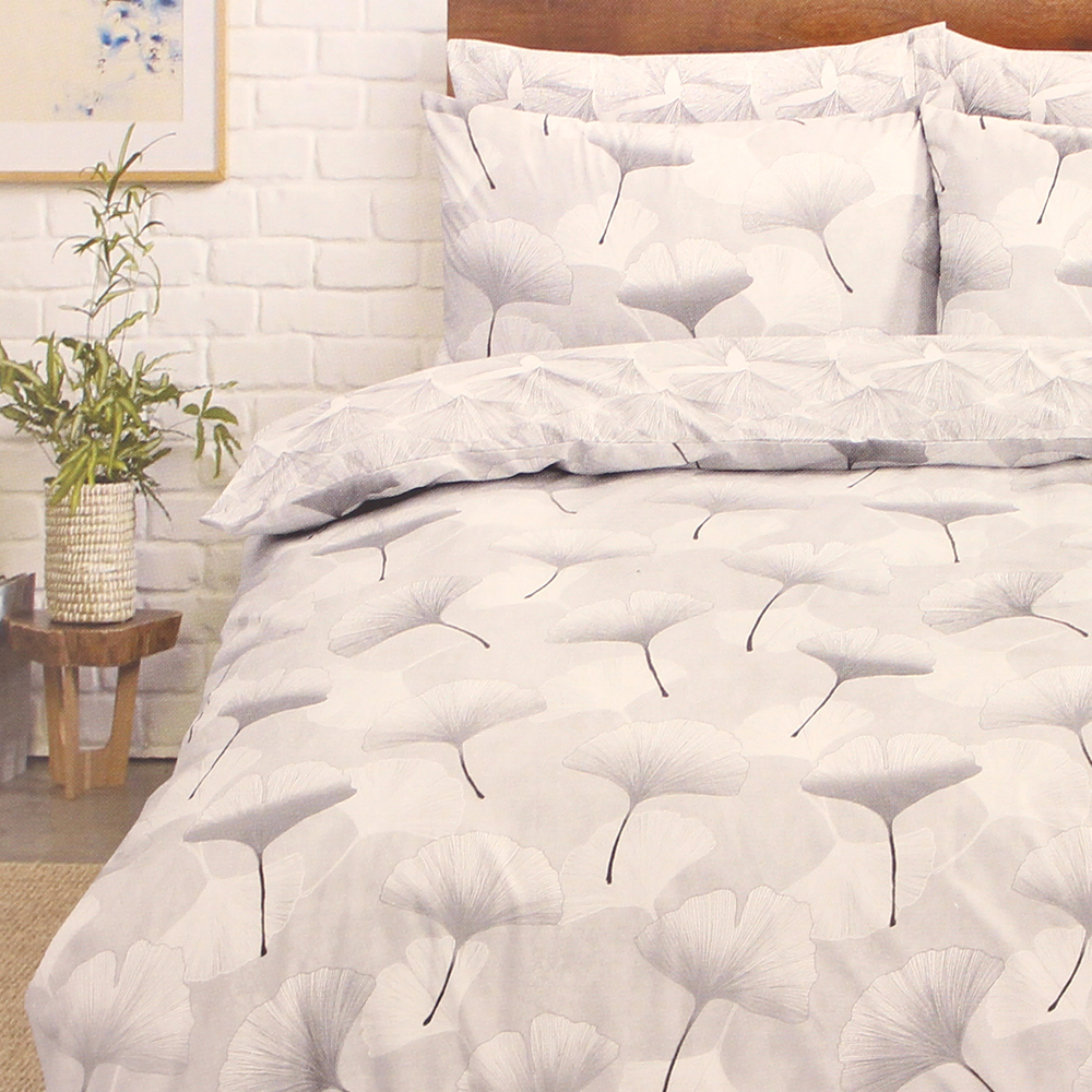 Picture of Home Collections: Grey Leaf Printed Duvet Set