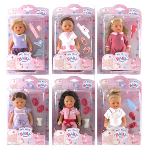 Buy My Mini Baby Born Hospital Dolls X 6 At Home Bargains