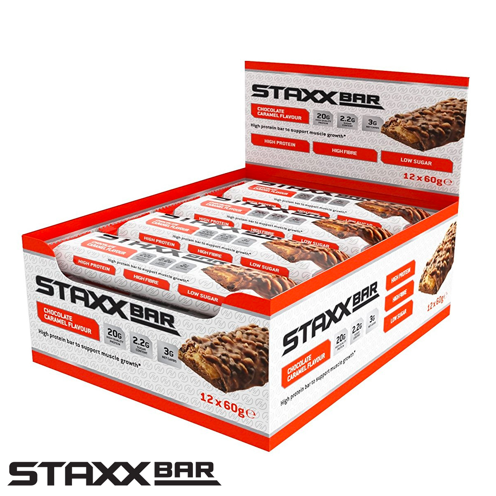 Picture of STAXX Protein Bar: Chocolate Caramel (12 x 60g Bars)