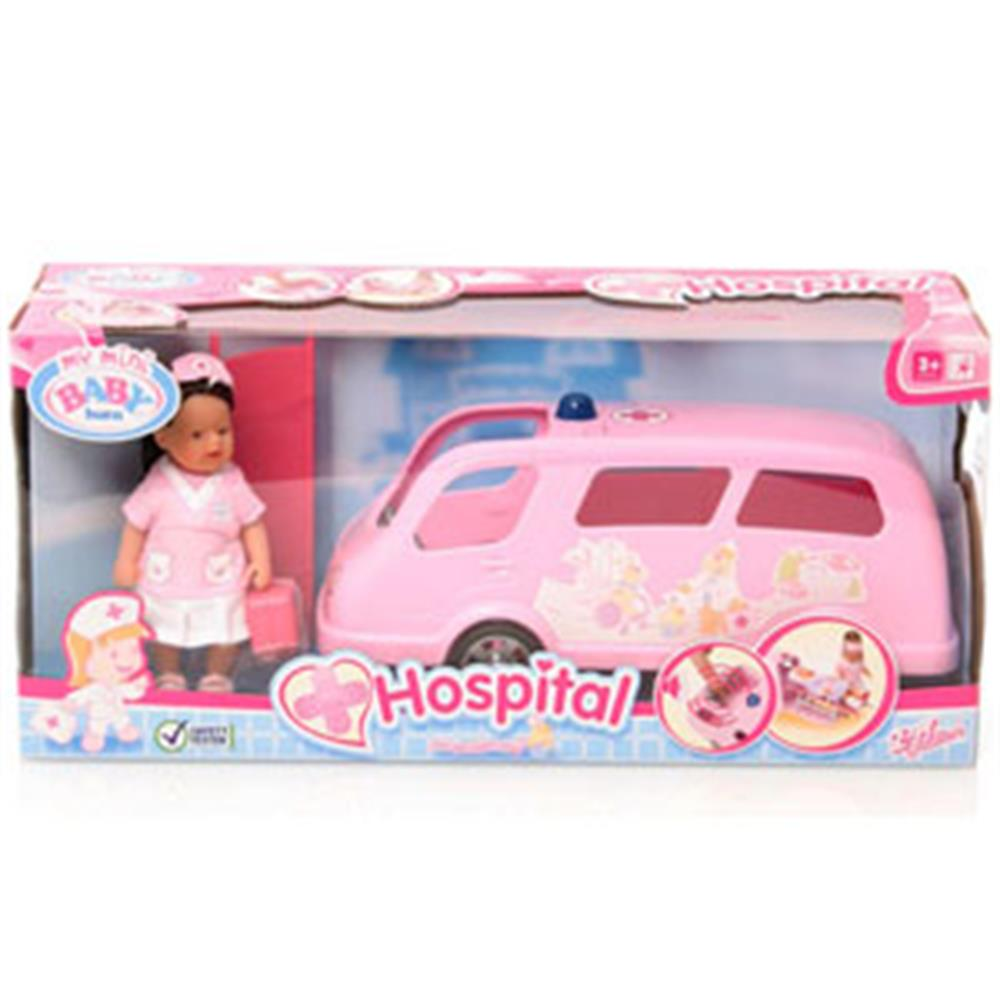 Buy My Mini Baby Born Hospital Ambulance At Home Bargains