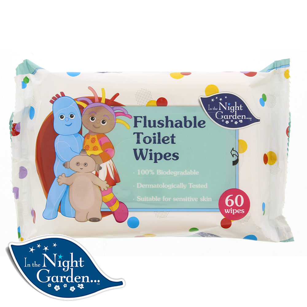 Picture of In The Night Garden Flushable Toilet Wipes (24 Packs)