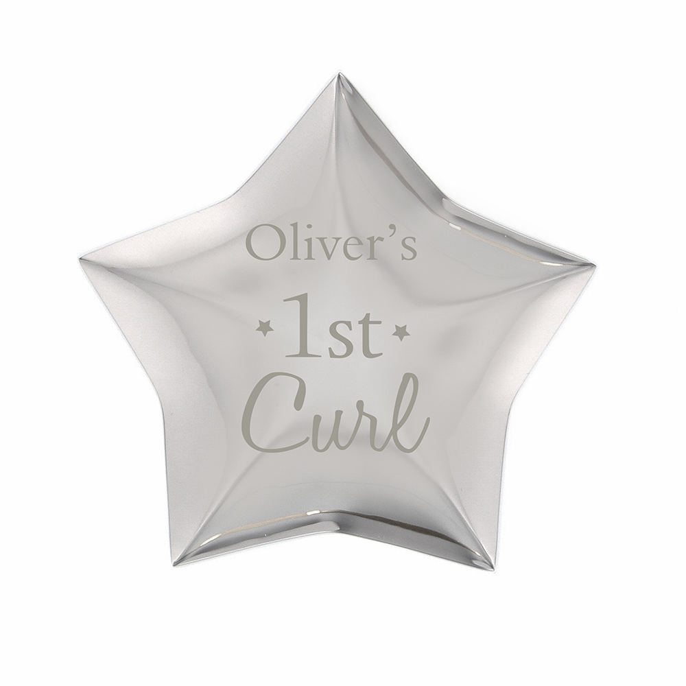 Picture of Personalised 1st Curl Star Trinket Box