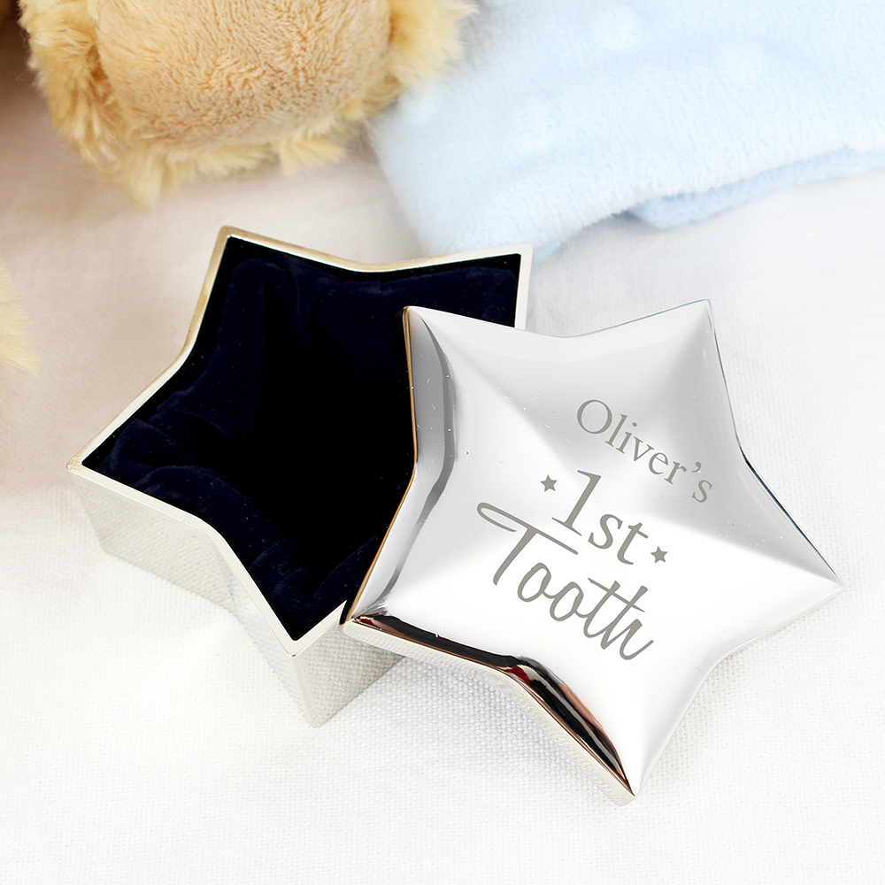 Picture of Personalised 1st Tooth Star Trinket Box