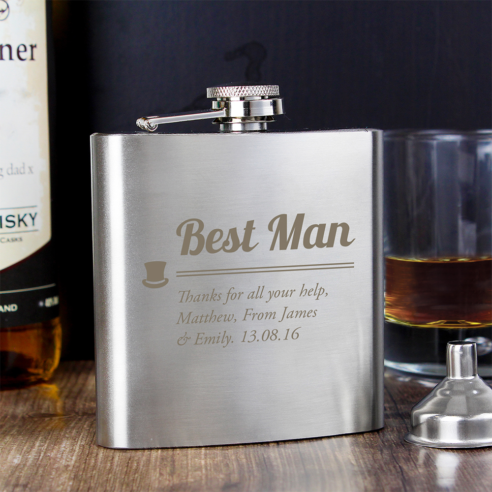 Picture of Personalised Best Man Hip Flask