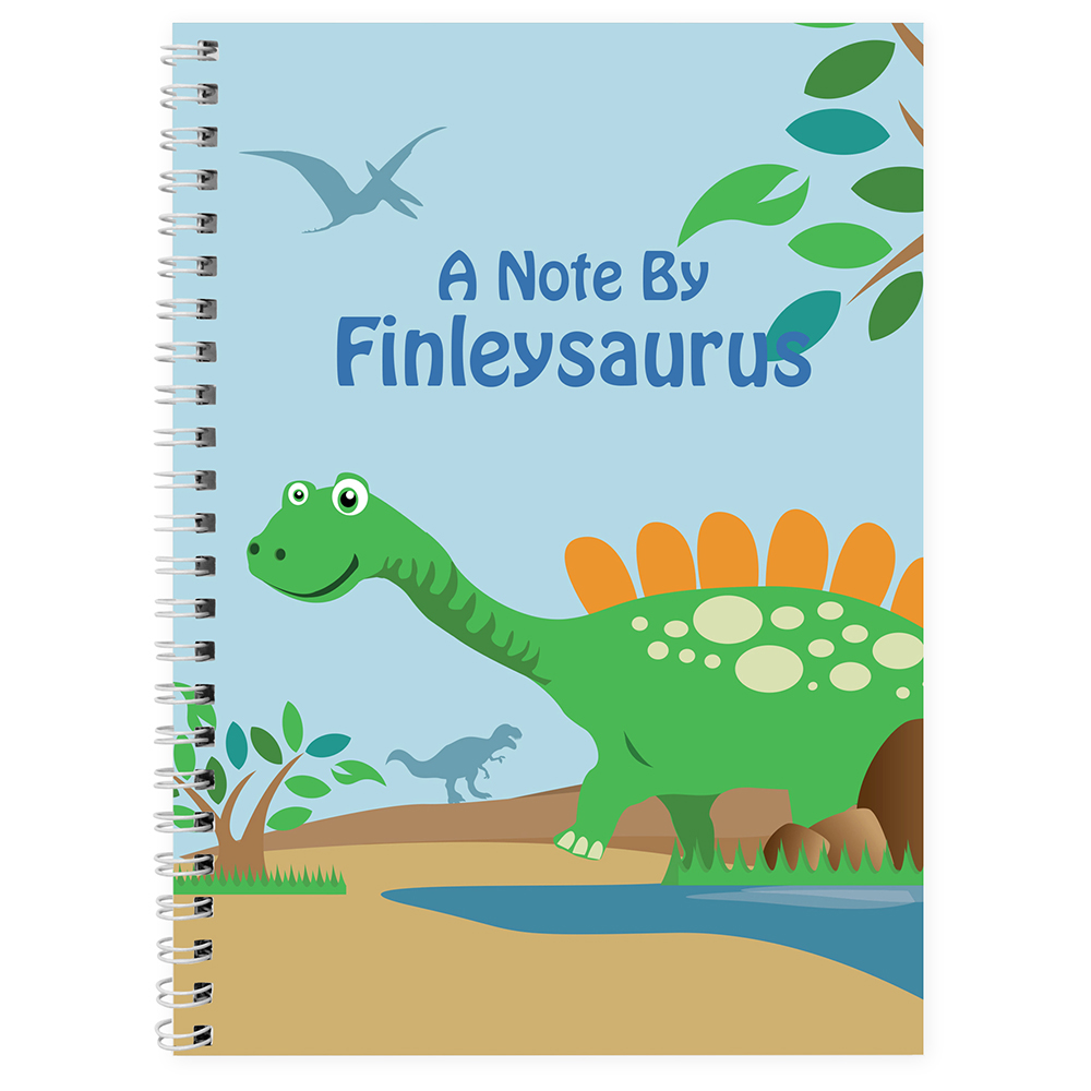 Picture of Personalised Dinosaur A5 Notebook