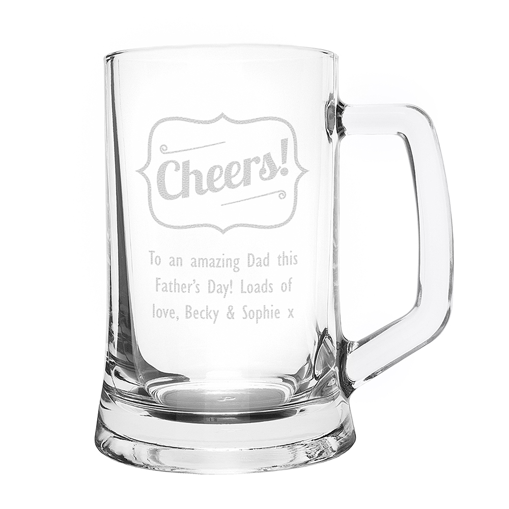 Picture of Personalised Cheers Glass Pint Stern Tankard