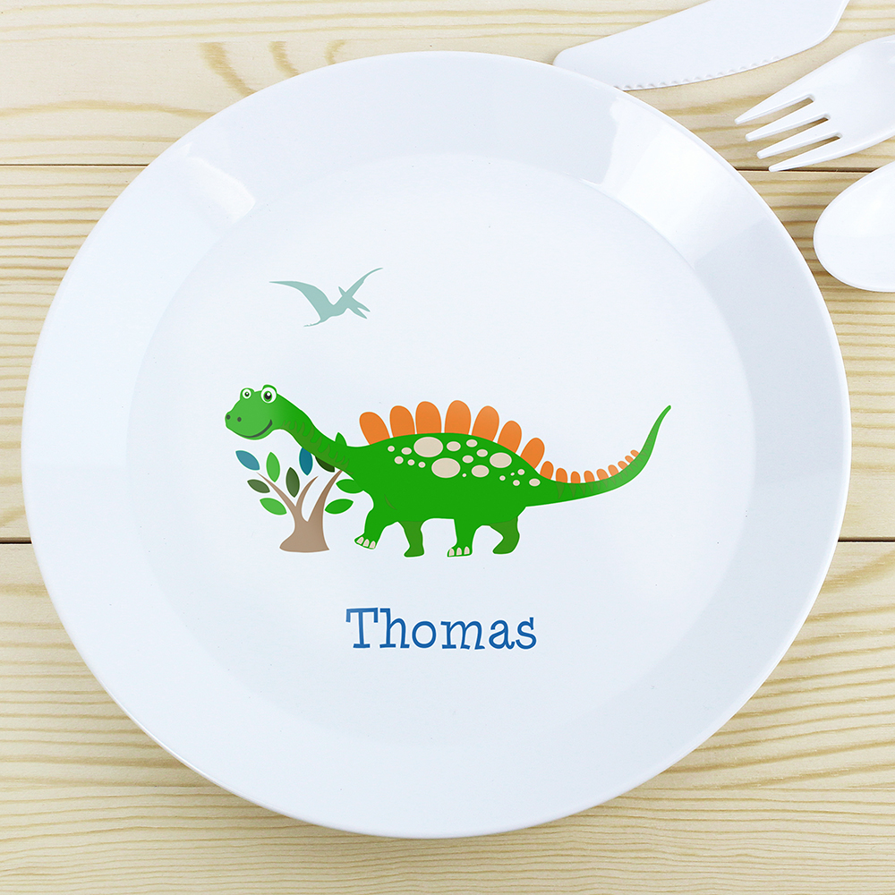 Picture of Personalised Dinosaur Plastic Plate