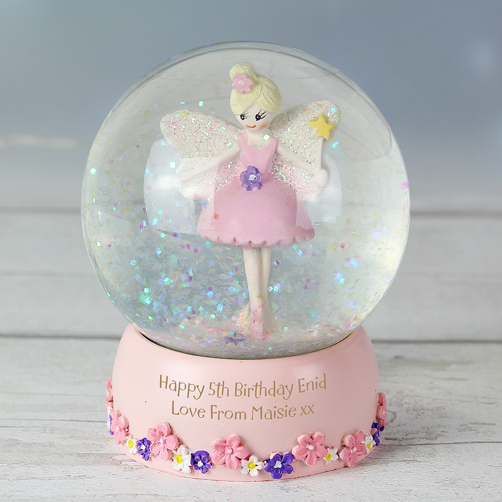 Picture of Personalised Fairy Glitter Snow Globe