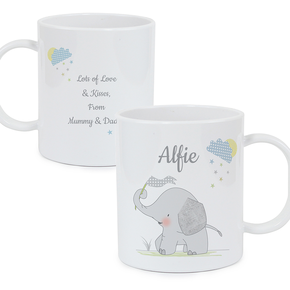 Picture of Personalised Hessian Elephant Plastic Mug