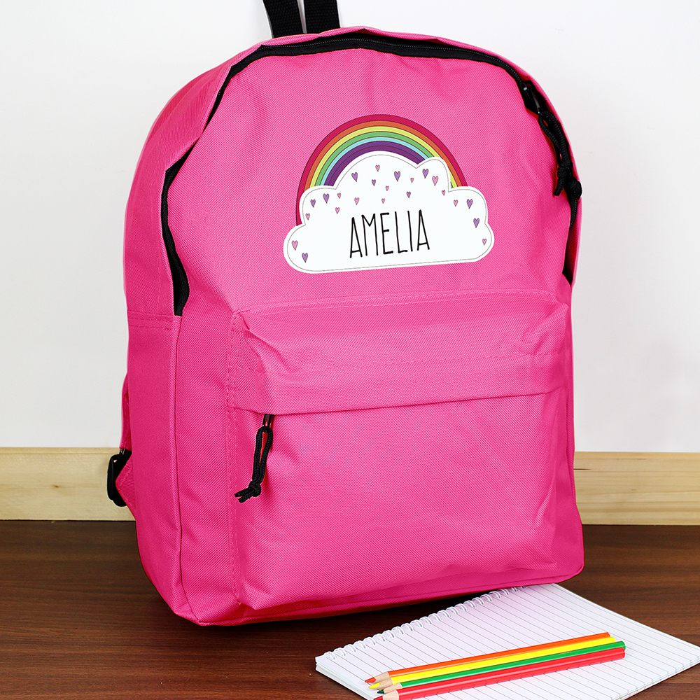Picture of Personalised Rainbow Pink Backpack