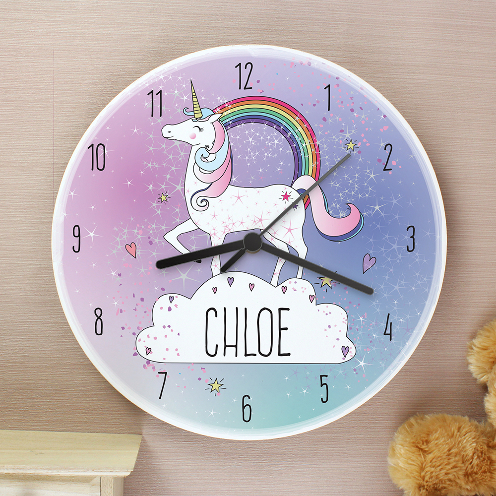 Picture of Personalised Unicorn Wooden Clock