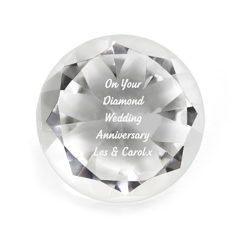 Picture of Personalised Diamond Paperweight