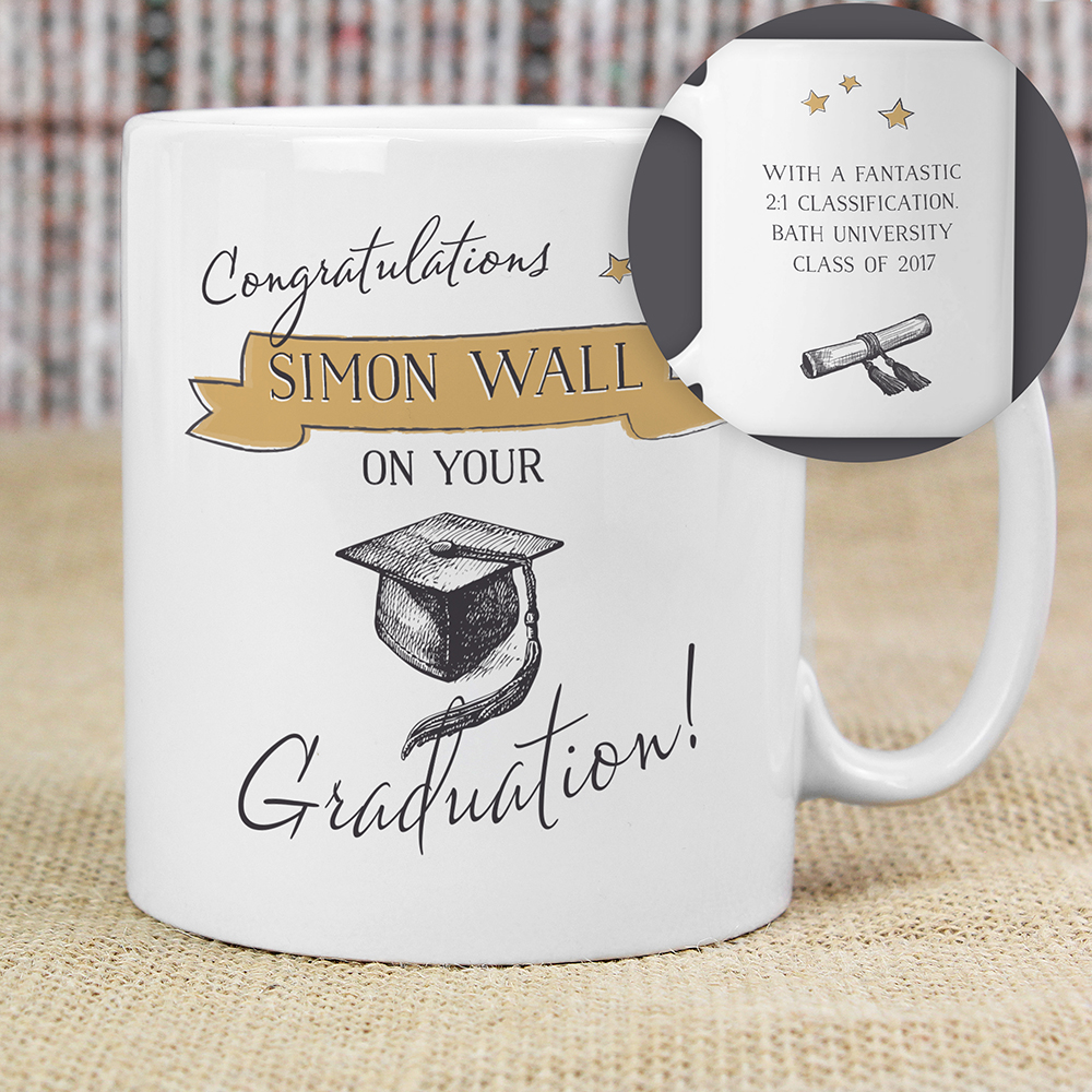 Picture of Personalised Gold Star Graduation Mug