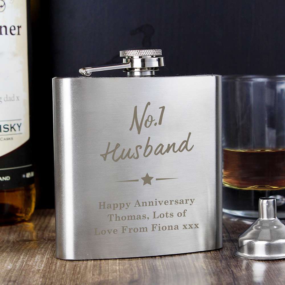 Picture of Personalised No.1 Hip Flask