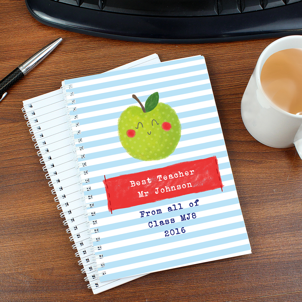 Picture of Personalised Apple for the Teacher A5 Notebook
