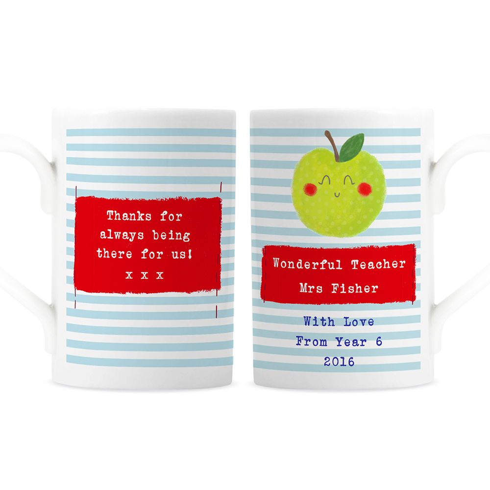 Picture of Personalised Apple for the Teacher Mug