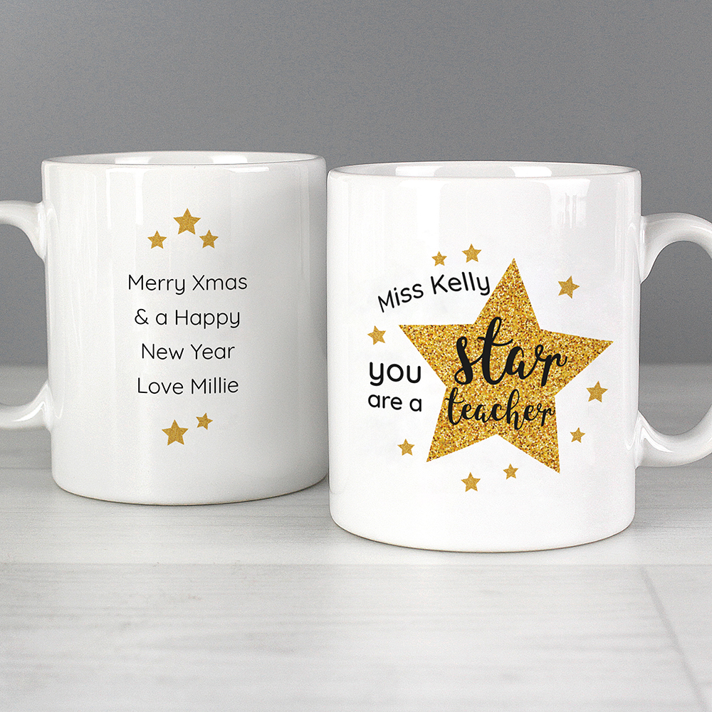 Picture of Personalised Star Teacher's Mug