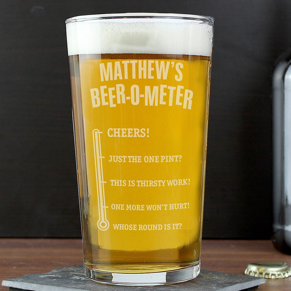 Picture of Personalised Beer-o-Meter Pint Glass