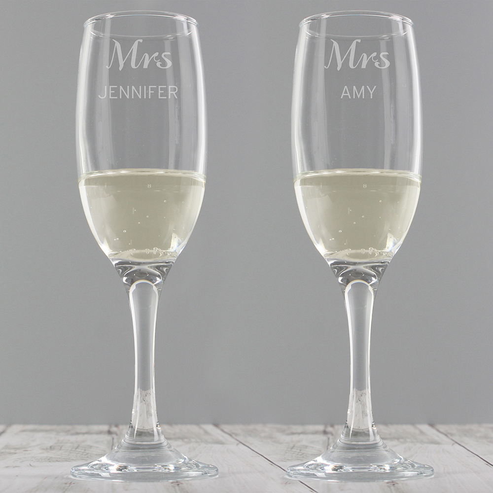 Picture of Personalised Classic Pair of Flutes