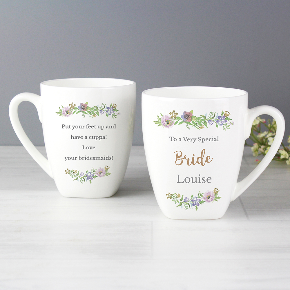 Picture of Personalised Floral Watercolour Mug