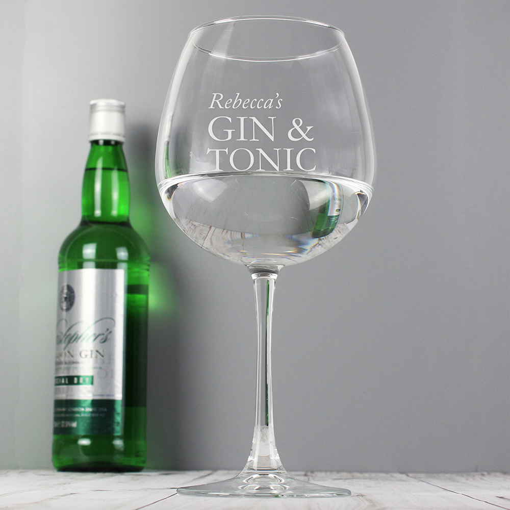 Picture of Personalised Gin & Tonic Balloon Glass
