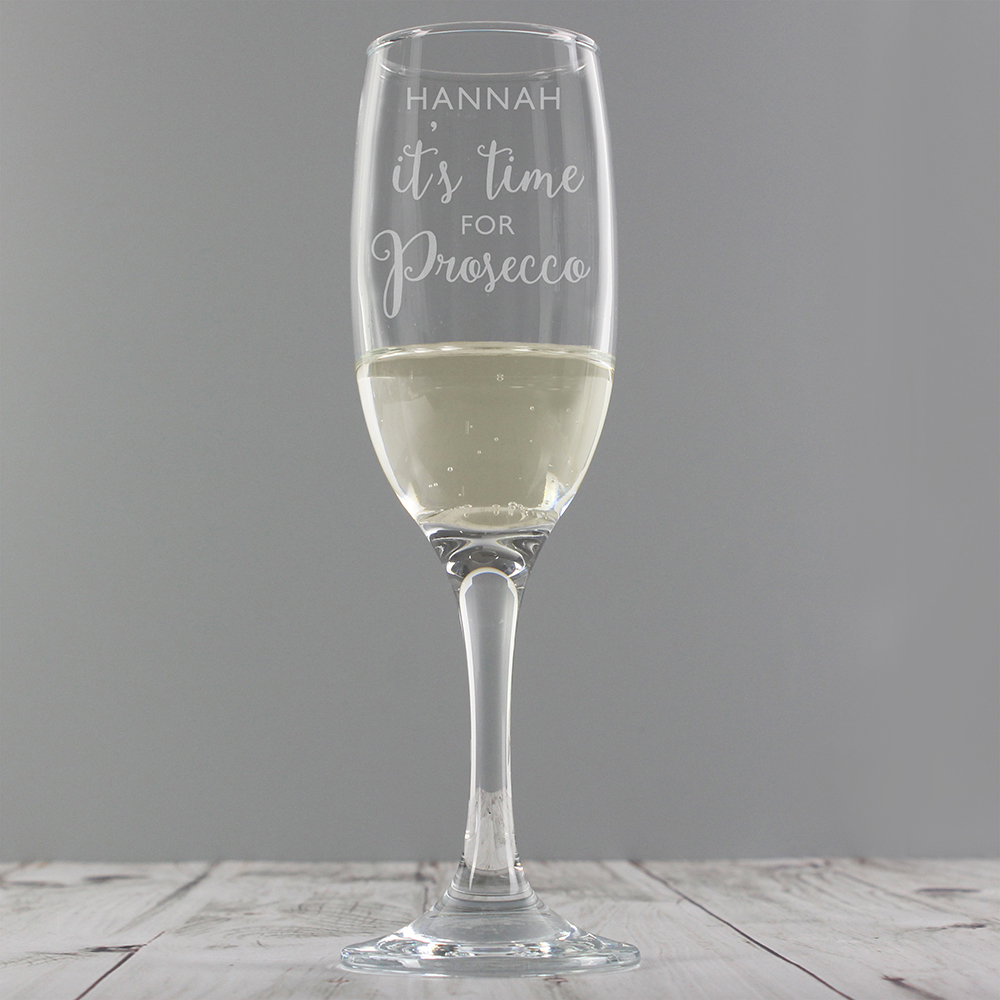 Picture of Personalised 'It's Time for Prosecco' Flute