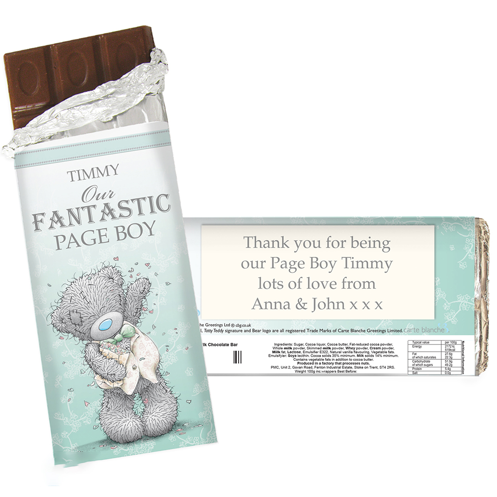 Picture of Personalised Me To You Wedding Milk Chocolate Bar (Male)