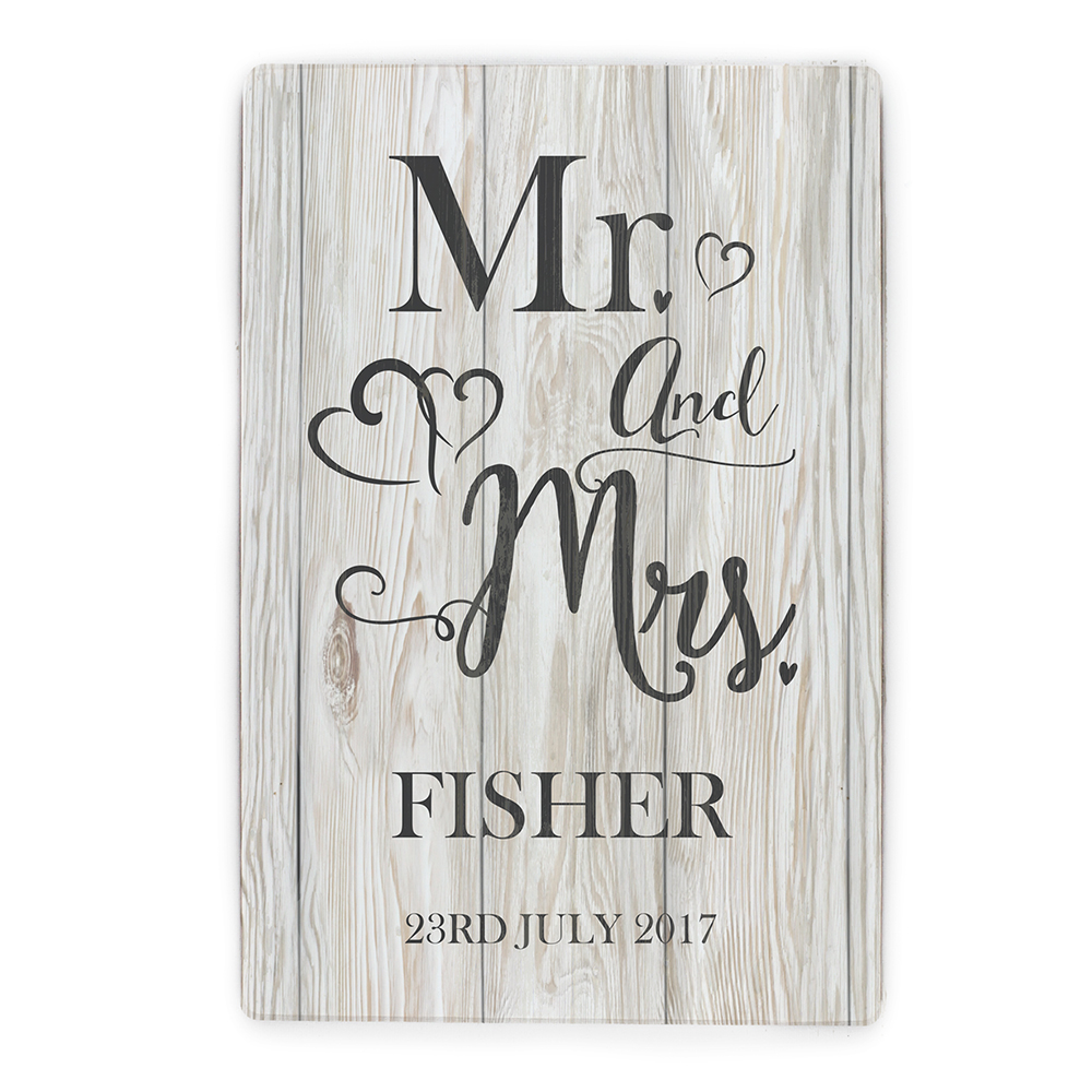 Picture of Personalised Mr & Mrs Metal Sign