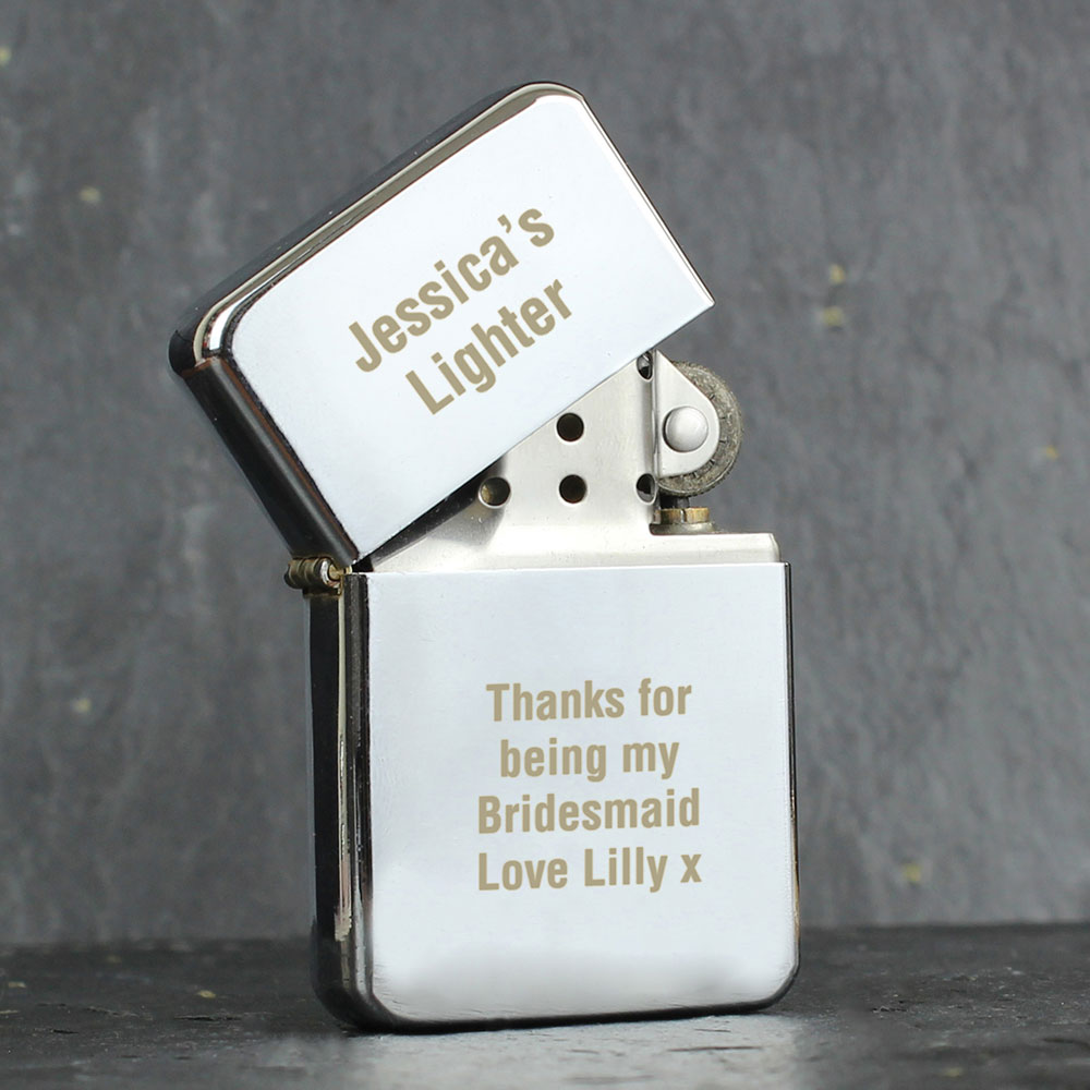 Picture of Personalised Silver Lighter