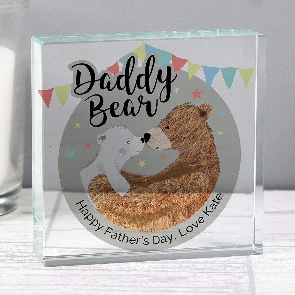 Picture of Personalised Daddy Bear Crystal Token