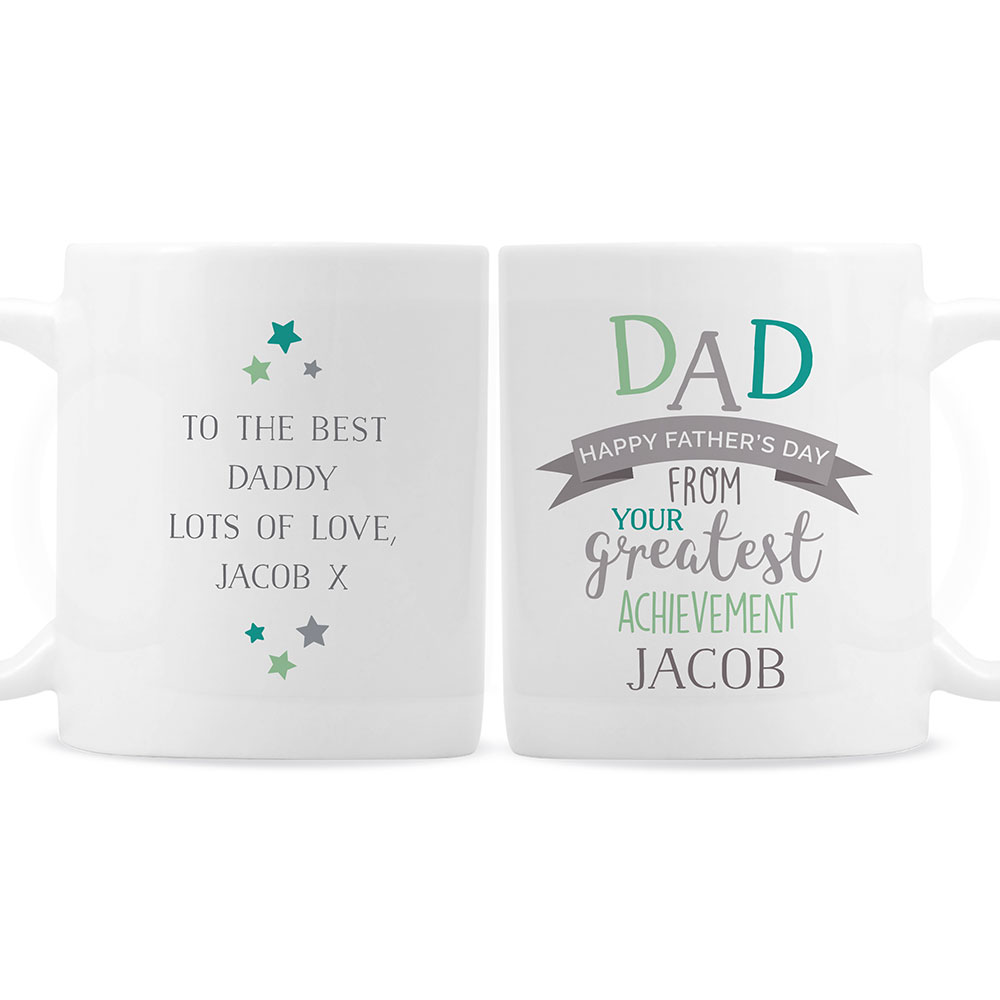 Picture of Personalised 'Dad's Greatest Achievement' Mug