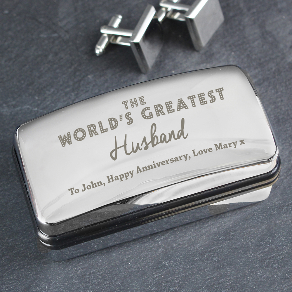 Picture of Personalised 'The World's Greatest' Cufflink Box