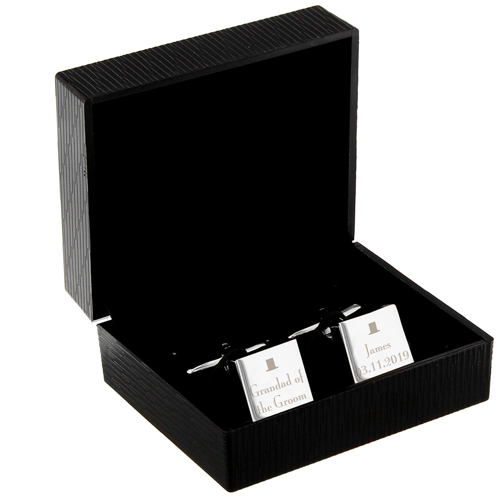 Picture of Personalised Wedding Square Cufflinks
