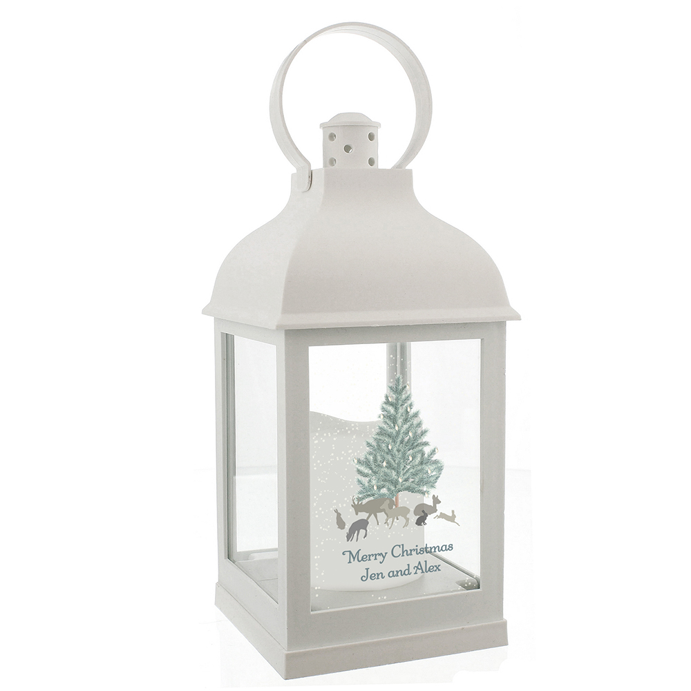 Picture of Personalised A Winter's Night White Lantern