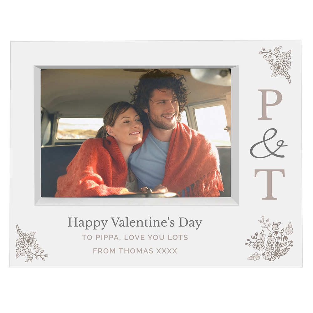 Picture of Personalised Couples Initials Box Photo Frame (7x5